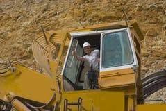 挖掘机黄色 库存照片