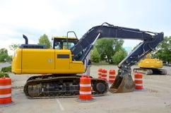 挖掘机,新建工程 库存照片