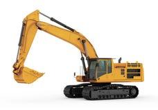 挖掘机 在白色backgroung 免版税库存照片