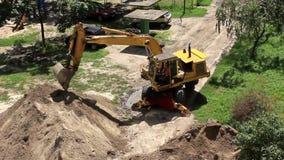 挖掘机 影视素材