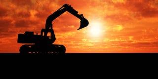 挖掘机 免版税库存图片