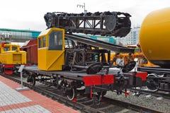 挖掘者垄沟VK - 1 铁路machiner新西伯利亚博物馆  免版税库存图片
