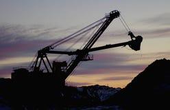 挖掘者露天开采矿 免版税库存照片
