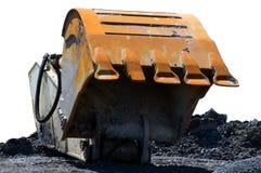 挖泥机挖掘机杓子 库存图片