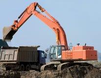 挖泥机 库存图片