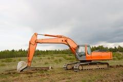 挖泥机 免版税库存图片