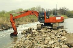 挖泥机 免版税库存照片