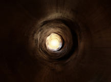 挖洞漩涡的光 免版税库存图片