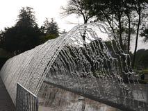 挖洞在不可思议的水电路的喷泉,利马 库存照片