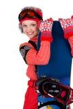 挡雪板年轻人 图库摄影