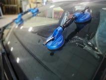 挡风玻璃汽车替换 库存图片