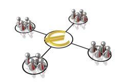 挣货币的企业合伙企业 库存照片