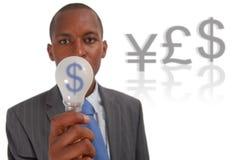 挣货币的想法 图库摄影
