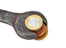 挣货币,获得为工作 免版税库存图片