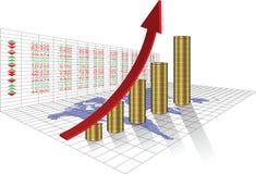 挣钱在股市上 向量例证