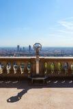 挤撞从上面俯视利昂的,法国,都市风景 库存照片