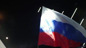 挥动与大俄国旗子 股票视频