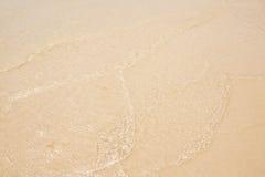 挥动在海滩 库存图片