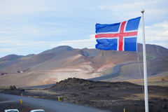 冰岛的旗子 免版税库存照片