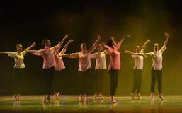 挥动对希望中国样式芭蕾舞蹈 图库摄影