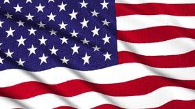 挥动新的质量独特的赋予生命的动态行动快乐的五颜六色的凉快的背景股票的美国美国旗子粗砺的织品 向量例证