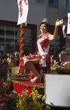 挥动的公主, 115th金黄龙游行,农历新年, 2014年,马的年,洛杉矶,加利福尼亚,美国 库存照片
