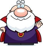 挥动的动画片巫术师 免版税库存照片