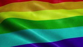 挥动的彩虹LGBT自豪感旗子无缝的圈 向量例证