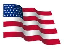 挥动的星和皮带美国国旗 图库摄影