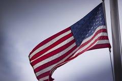 挥动的美国国旗 免版税图库摄影