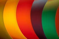 挥动的色的详细资料纸张结构 免版税库存图片
