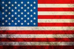 挥动的葡萄酒美国国旗美国纹理, 免版税图库摄影