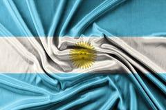 挥动的阿根廷旗子 库存图片