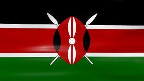 挥动肯尼亚旗子,为无缝的圈准备 皇族释放例证