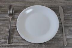 挨饿节食的减重减肥概念 不健康的营养和饥饿的概念 空的cle照片的顶视图关闭  库存图片