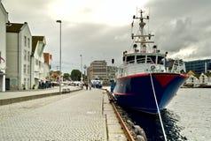 挪威乘客端口船斯塔万格 图库摄影