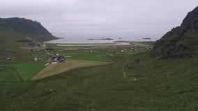 挪威人北冰洋海岸风景 免版税库存图片