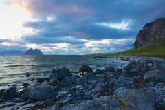 挪威人岸 库存照片