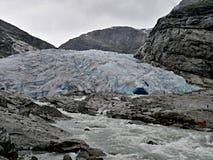 挪威冰川Nigardsbreen 免版税库存照片