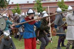挪威北欧海盗露天说明 免版税库存图片