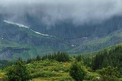 挪威北部典型的风景  图库摄影