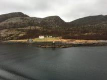 挪威区段光, Stokkøya 图库摄影