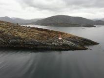 挪威区段光, Stokkøya 免版税库存图片