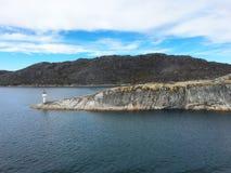 挪威区段光 库存照片