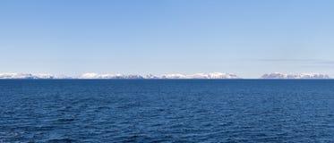 挪威口岸的全景 库存照片