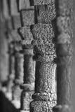 挪威古老木专栏细节 borgund教会梯级 n 免版税库存图片