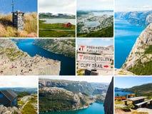挪威和斯堪的那维亚拼贴画 免版税库存图片