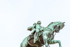 挪威国王卡尔约翰XIV雕象  库存照片