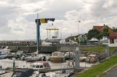 挪威城市的海岸线 库存图片