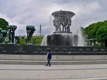 挪威奥斯陆, Frogner公园 图库摄影